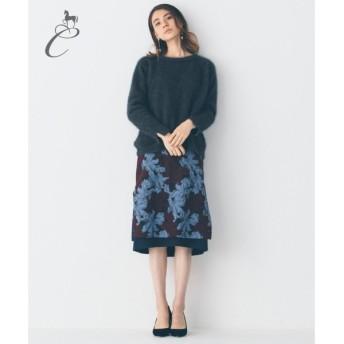 自由区 / ジユウク 【Class Lounge】RATTI FLOWER JACQUARD スカート