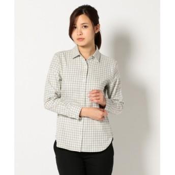 S size ONWARD(小さいサイズ) / エスサイズオンワード Cancliniファインメルトン チェックシャツ