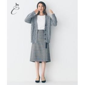 自由区 / ジユウク 【Class Lounge】GLENCHECK DOUBLECLOTH スカート