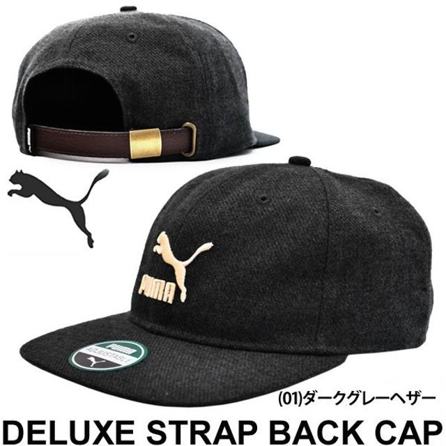 プーマ PUMA メンズ  キャップ 帽子 LS デラックス ストラップバックキャップ プーマキャット ロゴ スポーツアクセサリー タウンユーズ カジュアル/021051