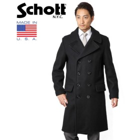 Schott ショット 7331 ロングメルトンピーコート ネイビー Pコート メンズ ジャケット ウール ブルゾン ロングコート ブランド【クーポン対象外】【予】