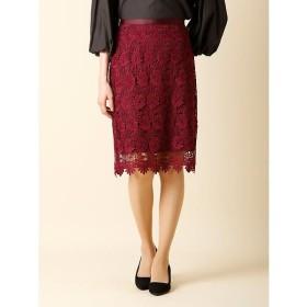 CLEAR IMPRESSION / クリアインプレッション 《WEB限定大きいサイズ》フラワーIラインスカート