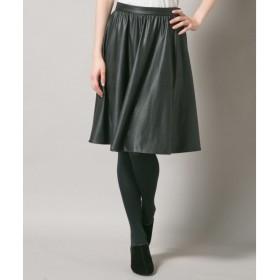 any SiS / エニィスィス フェイクレザーフレアスカート