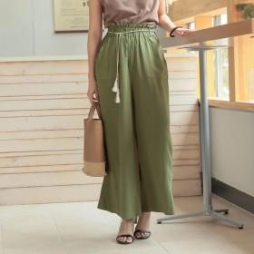 パンツ・ズボン全般 - Re: EDIT タッセルロープが旬のアクセントに タッセルロープベルト付きリネンワイドパンツ ボトムス/パンツ/ワイドパンツ・ガウチョパンツ