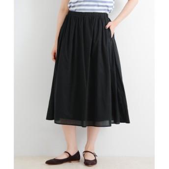 NIMES / ニーム コットンローン2枚重ねマキシ丈スカート