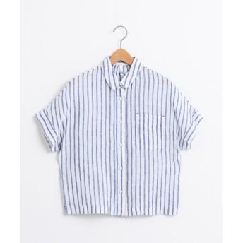 NIMES / ニーム French Linen ストライプ BOXシャツ
