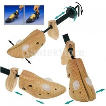1足 シューズストレッチャー シューキーパー シューツリー シューズフィッター 靴長持ち 形のキーパー 女性用(US Size 5-8 ) 木製