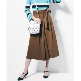 Viaggio Blu / ビアッジョブルー ベルト付きハイウエストラップ風スカーチョ