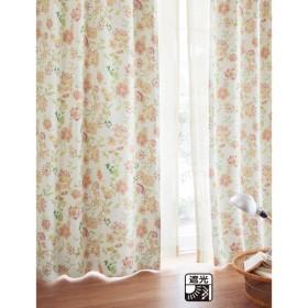 カーテン カーテン ベルメゾン 花柄プリントの遮光カーテン 約100×110 2枚