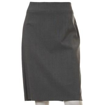 INED / イネド 《大きいサイズ》ピンストライプストレッチタイトスカート