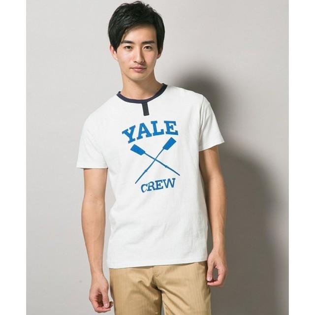 J.PRESS / ジェイプレス YALE パドルプリントTシャツ