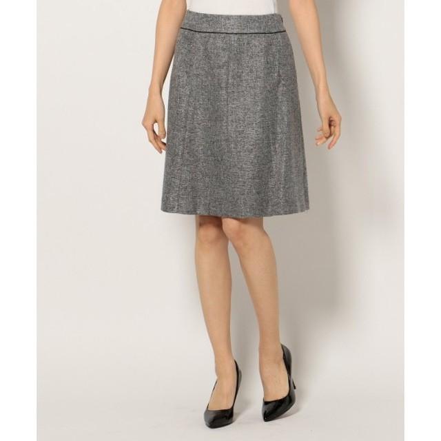 S size ONWARD(小さいサイズ) / エスサイズオンワード 【セットアップ対応】ルミエールツイードストレッチ スカート
