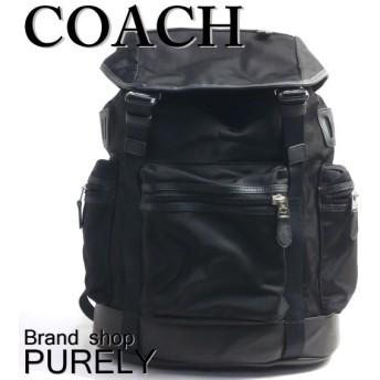 全品ポイント2倍 コーチ COACH バッグ メンズ リュック サック ナイロン トレック パック バック パック F71884 BLK ブラック