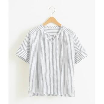 NIMES / ニーム 綿麻ストライプ オーバーサイズシャツ