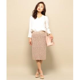 S size ONWARD(小さいサイズ) / エスサイズオンワード 【セットアップ対応】マルチカラースラブ ニットスカート