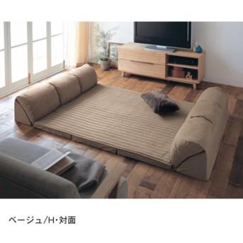 ラグ ソファー おしゃれ 安い クッション セット 日本製 プレイマット 厚手 ベージュ H・対面/129×4 K・コーナー/215×1.5