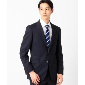 COMME CA ISM / コムサイズム シャイニーストライプストレッチ スーツジャケット