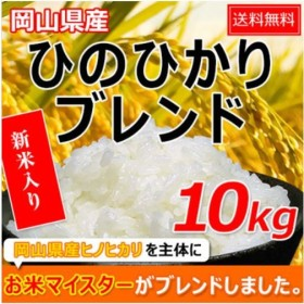 米 お米 10kg ヒノヒカリブレンド (5kg×2袋) 送料無料