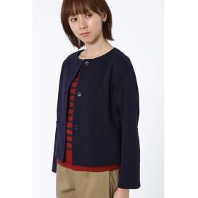 HUMAN WOMAN / ヒューマンウーマン タック編みピンチェック羽織ジャケット
