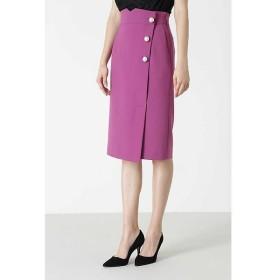 PINKY & DIANNE / ピンキーアンドダイアン ◆BIGパールポイントカラーラップスカート