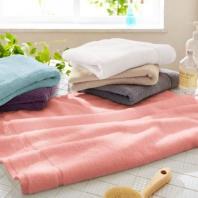 タオル 高乾度部屋干しバスタオル ピンク スモールバスタオル