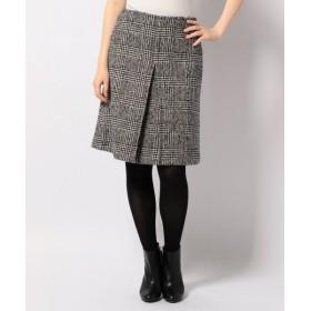 S size ONWARD(小さいサイズ) / エスサイズオンワード ウールネップグレンチェック スカート