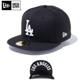 セール20%OFF!【メーカー取次】 NEW ERA ニューエラ 59FIFTY UNDERVISOR ロサンゼルス・ドジャース ブラック×ホワイト LOS ANGELES2 11434023 キャップ