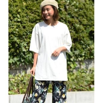 LIPSTAR / リップスター 星刺繍スリットチュニックロングTシャツ