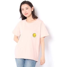 Daily russet / デイリーラシット スマイルサガラ刺繍Tシャツ