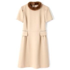 PROPORTION BODY DRESSING / プロポーションボディドレッシング  ファーネックドレス