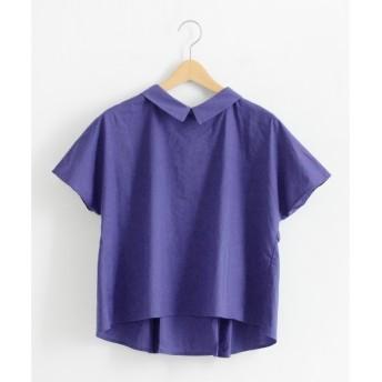 NIMES / ニーム 60/-ローン 衿付タックBL