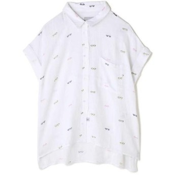 ROSE BUD / ローズ バッド メガネ柄半袖シャツ