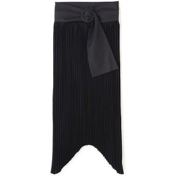 ADORE / アドーア ハイツイストゼログサテンアシメトリーヘムプリーツスカート