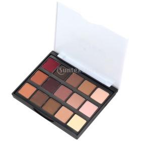 舞台化粧用 アイシャドー 使いやすい パレット  初心者 色合い 15色 全2種類選べ - #1