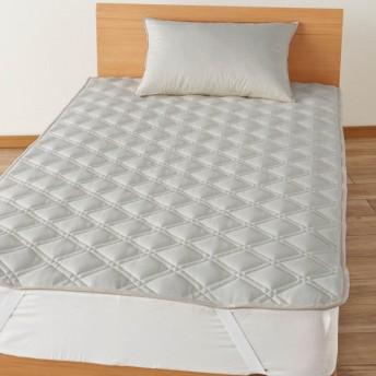 布団カバー シーツ 敷きパッド パッドシーツ 日本製 の接触冷感多機能敷きパッド 枕パッド アイボリー 枕パッド 1枚
