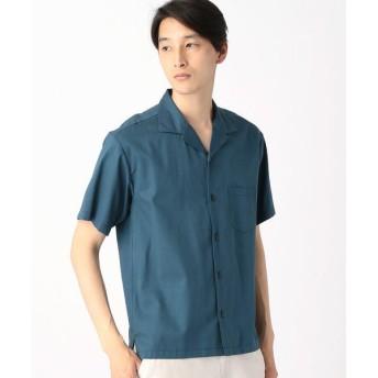 COMME CA ISM / コムサイズム コットンレーヨンオープンカラーシャツ