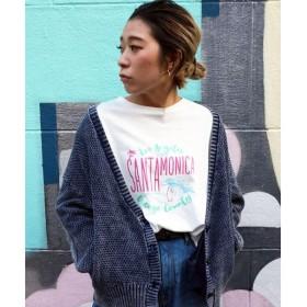 LIPSTAR / リップスター SANTAMONICAロゴ七分袖Tシャツ