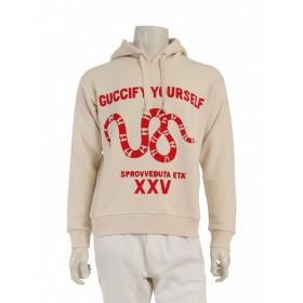 グッチ GUCCI パーカー スウェットシャツ アイボリー 赤 トップス 長袖 プリント XS コットン100% 綿 Guccify Yourself 469251 X3L57 9264 メンズ