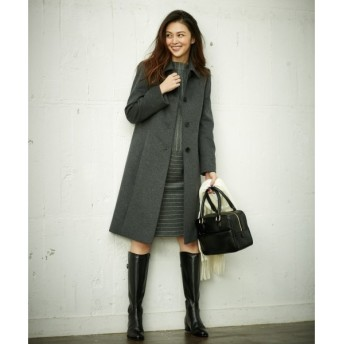J.PRESS / ジェイプレス スーパー100sカシミヤ混ビーバー ステンカラーコート