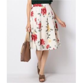 any SiS / エニィスィス 【洗える】フラワープリントタック スカート