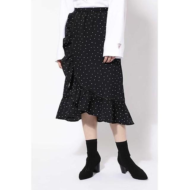 ROSE BUD / ローズ バッド ラッフルフリルラップスカート
