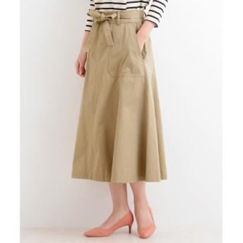 NIMES / ニーム チノ リボン付スカート