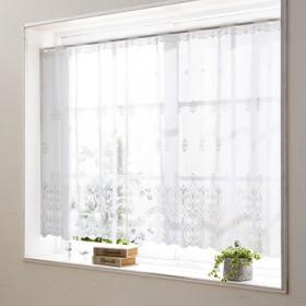 カーテン 安い おしゃれ のれん カフェカーテン レースカフェカーテン 小窓カーテン 約150×25