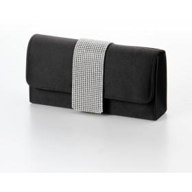 バッグ カバン 鞄 レディース クラッチバッグ 3WAYラインストーン使いサテンクラッチバッグ カラー ブラック
