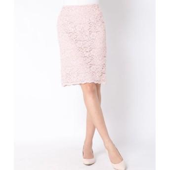 Viaggio Blu / ビアッジョブルー 【洗濯機OK】コードレースタイトスカート