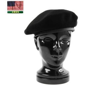 実物 新品 米陸軍 U.S.ARMY現用 ブラックベレー帽 プレーン アメリカ軍 帽子 メンズ 軍物 軍用 デッドストック
