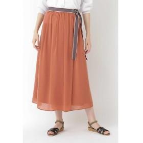 HUMAN WOMAN / ヒューマンウーマン 楊柳ラップロングスカート