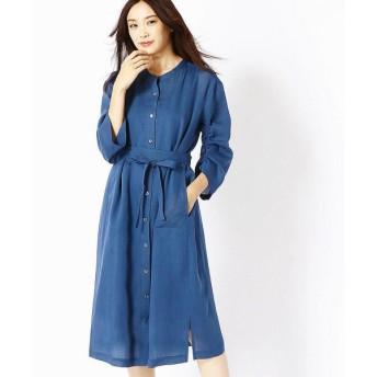 COMME CA / コムサ ラミーちりめんロングシャツドレス