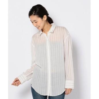 S size ONWARD(小さいサイズ) / エスサイズオンワード リヨセルラミーストライプ シャツ