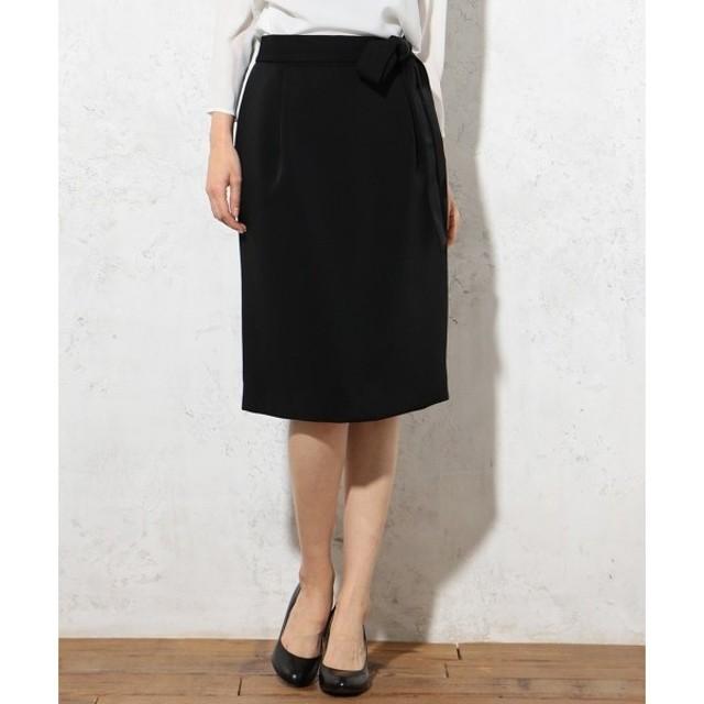 J.PRESS / ジェイプレス 【セットアップ対応】ヴィーナスダブルクロス 腰リボン付きスカート
